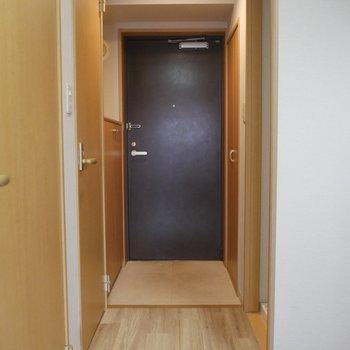 玄関までの一直線のアプローチです。※写真は2階の反転間取り別部屋のものです