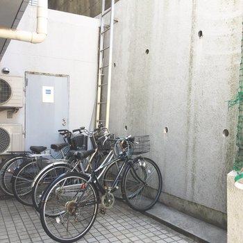 晴れている日は駅まで自転車で!