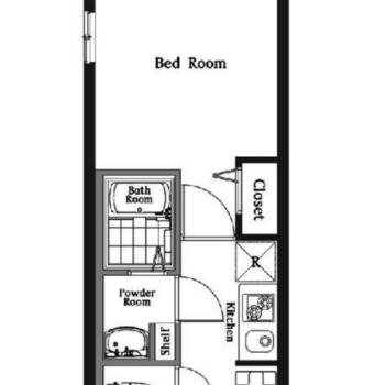 シンプルな1Kのお部屋です。