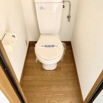 トイレはシンプルタイプです。