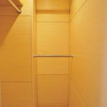 収納はここ。結構入りそう ※写真は4階の同間取り別部屋のものです。