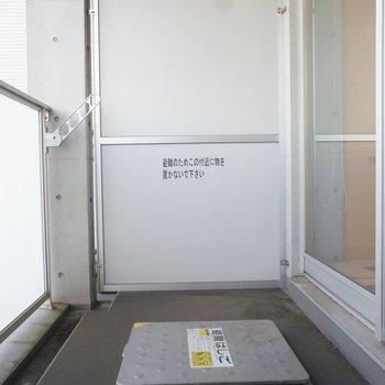バルコニーもちょうどいいかな ※写真は4階の同間取り別部屋のものです。