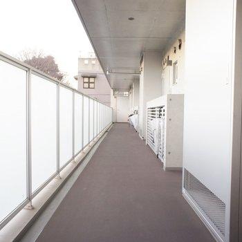 共用廊下。きれいでいい!