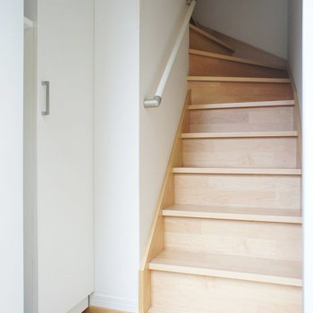 一階は階段のみ。