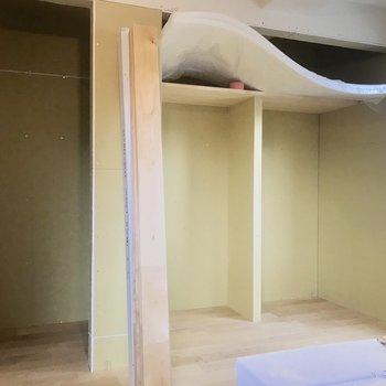 【工事中】お部屋の奥に大容量の収納があります