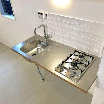 キッチンのデザインにも遊び心を
