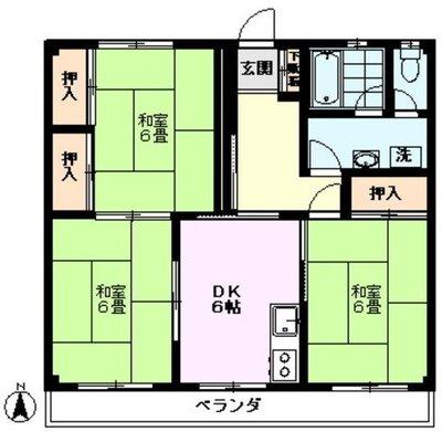 武蔵関アパート1号棟の間取り