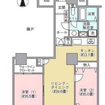 全てのお部屋が南向きの2LDKです