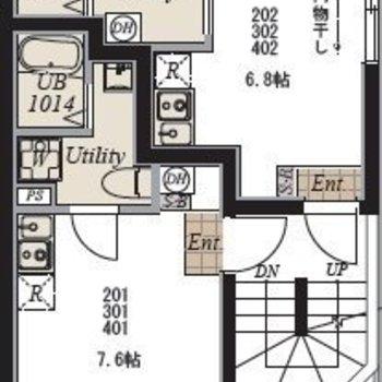1フロア二戸のマンション。居室は隣と繋がらない設計に。