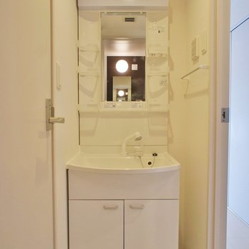 独立洗面台♪。※写真は203号室のもの