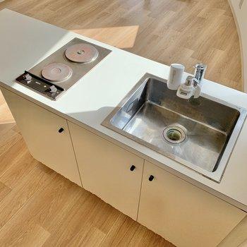 キッチンも可愛いデザインです。