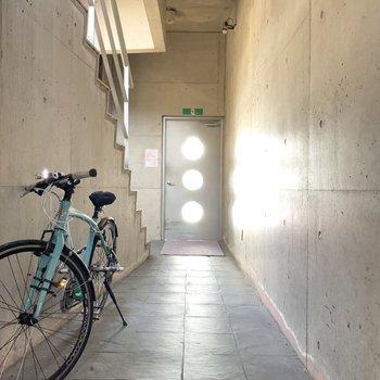 1階に自転車を置けそう。