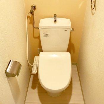 トイレの壁紙は黄色、このお部屋の隠れたチャームポイント