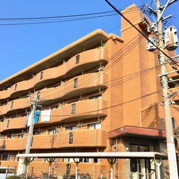 外観はちょっとレトロですが、大きくドシッと構える5階建ての建物です。