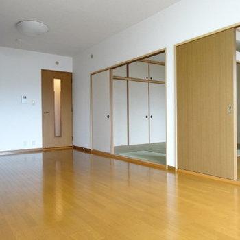 LDK横に2つのお部屋がぎゅぎゅっと!
