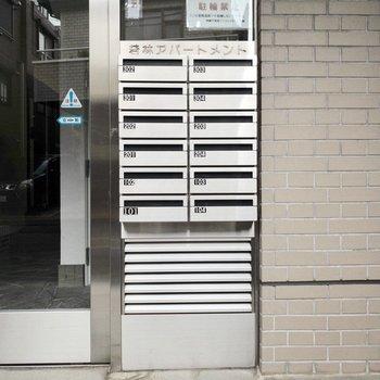 外から見たメールボックス
