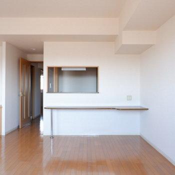 カウンターキッチン良いですね◎※写真は7階の似た間取り別部屋のものです