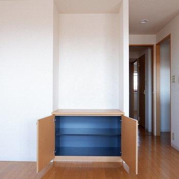 こういった収納があるのか無いのかは結構大きい。※写真は7階の似た間取り別部屋のものです