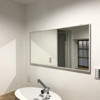 大きい鏡が嬉しい!