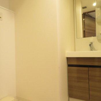 洗面台と洗濯機置き場は同じ空間に