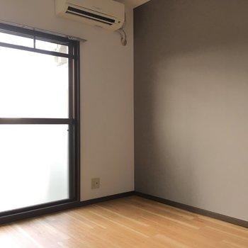 エアコンはお部屋についてきます!※写真と文章は3階の反転間取り別部屋のものです