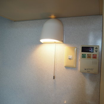 キッチンの照明がまたすてき
