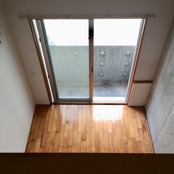 高さがあるので下を覗くとちょっぴりひやり※写真は同建物同間取りの別部屋のものです