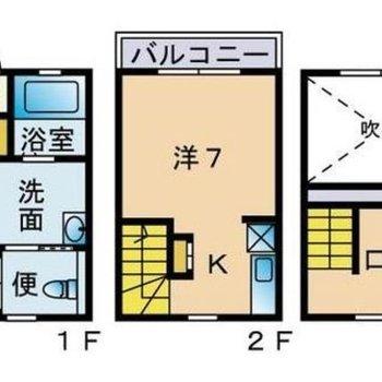 3層からなるお部屋!