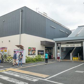 駅のすぐ隣にはスーパーがあります。