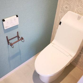 トイレはスッキリしたデザイン