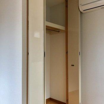 クローゼットはお部屋のいち番奥に