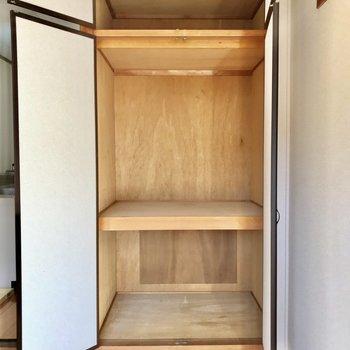 大容量の収納可能。※写真は2階の同間取り別部屋のものです