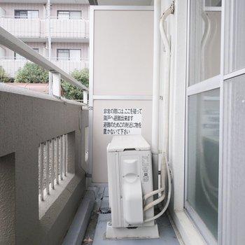 バルコニーには洗濯物干し掛けがついています。