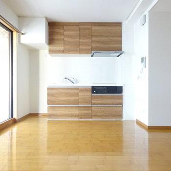 無垢板のキッチンが主役! (※写真は前回掲載時のものです。)