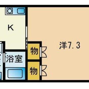 キッチンがある部屋も広めです!