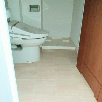 脱衣所としてのスペースもきちんとあります!※写真は2階の同間取り別部屋のものです