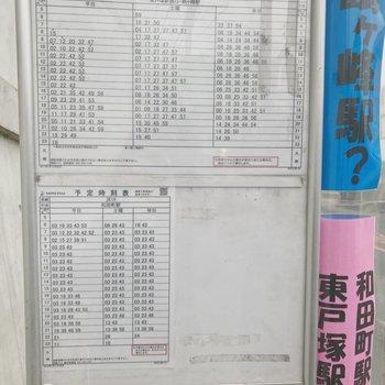 時刻表:お部屋→上星川駅(坂本町)・和田町駅へ向かうバス