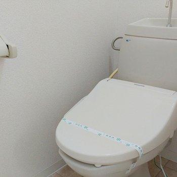 トイレはウォシュレット付きです※写真は11階の同間取り別部屋のものです