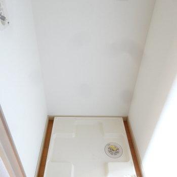 洗濯パンもしっかりありました。※写真は7階の同間取り別部屋のものです
