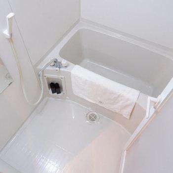 お風呂も広い!ドレッサーを用意するとより便利。※家具はサンプルです