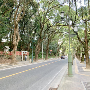 西鉄香椎宮前駅から伸びる参道も良い雰囲気♬