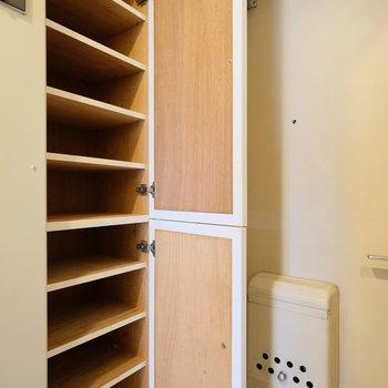 ひとり暮らしには十分な容量の靴箱!※写真は407号室