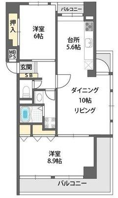 ロイヤルハイツ今福鶴見駅の間取り