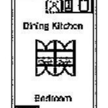 お部屋の真ん中の収納がキッチンと寝室を分離♪