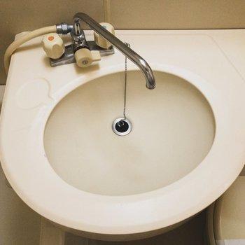 洗面台のカタチがユニーク