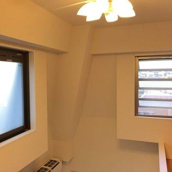 そしてシーリングファンも。贅沢。※写真は6階の反転間取り別部屋のものです