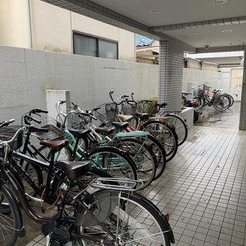自転車を置くことも可能!