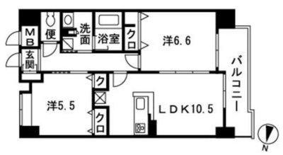 私のお部屋、福岡の中心。 の間取り