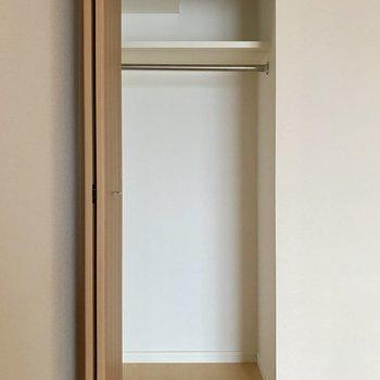 収納はここだけ!畳みづらい洋服はこちらへ。※写真は11階の同間取り別部屋のものです