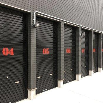 共用部】ここが専用のガレージです!